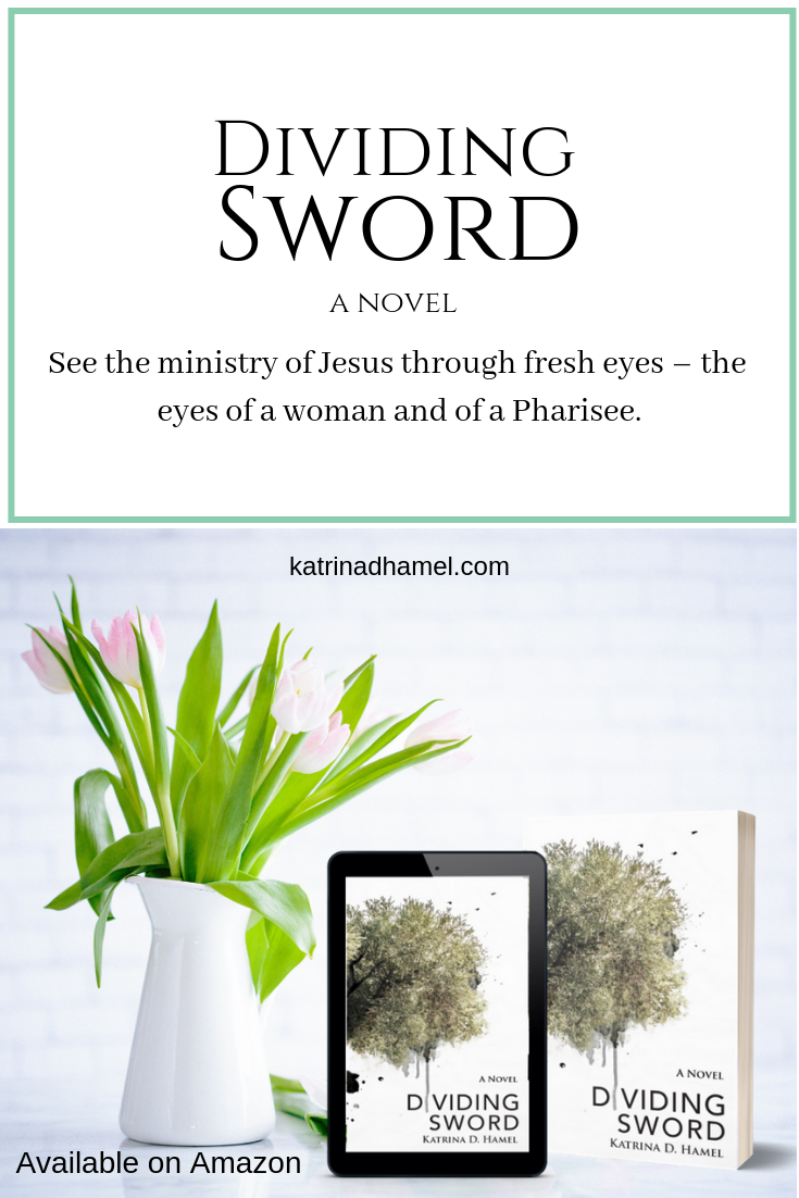 A Christian Historical Novel based on the Gospel of Matthew. See the gospel through fresh eyes, the eyes of a woman, and of a Pharisee. For more information go to katrinadhamel.com