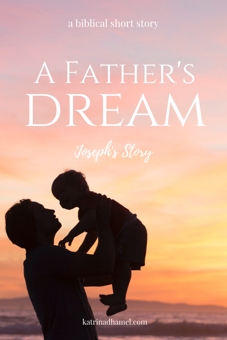 Silhouette of a man lifting a toddler in the sunset and the text 'A Father's Dream, Joseph's Story'