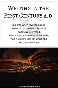 Letters, contracts, novels, plays, how-to manuals and more have been around for thousands of years. What process for writing and editing did writers use in the first century AD?