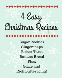 4 Easy Christmas Recipes for a beginning baker! Fun for baking with kids!