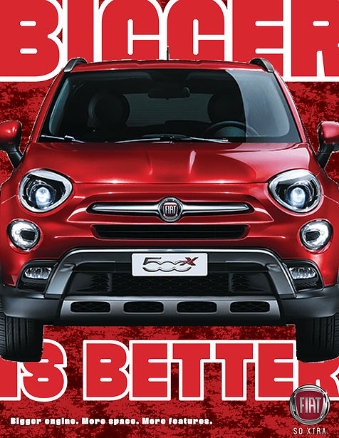 FIAT 500x Red ad