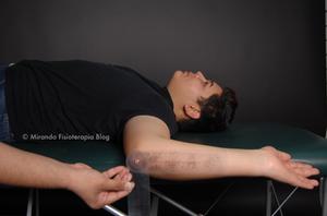 Goniometría: rotación externa del hombro