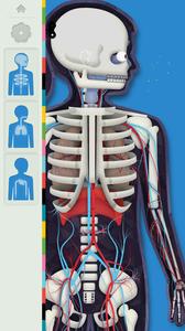 El cuerpo humano por TinyBop -  Apps para estudiar anatomía