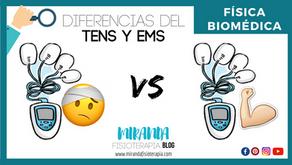 Diferencias del TENS con el EMS (Electroterapia)
