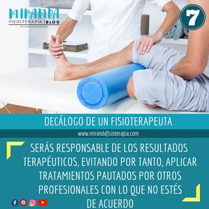 7. decálogo del fisioterapeuta
