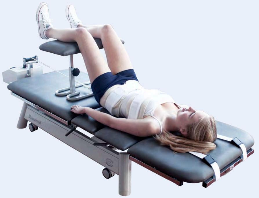 cama de tracción lumbar- mecanoterapia