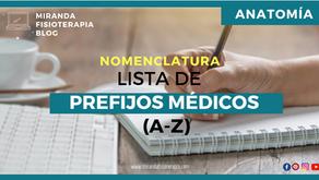 Lista de prefijos médicos (A-Z)