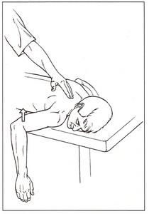 aducción de la escápula por el paciente grado 3