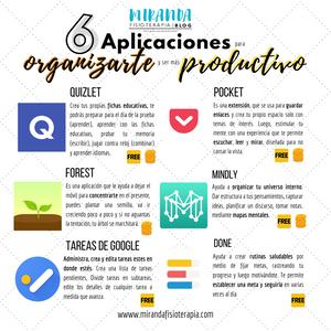 6 aplicaciones para organizarte y ser más productivo