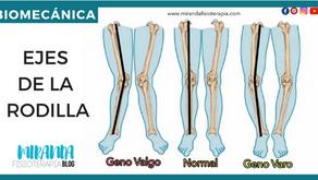 Ejes de la rodilla: Geno valgo y Geno varo