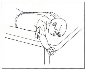 depresión y aducción por el paciente