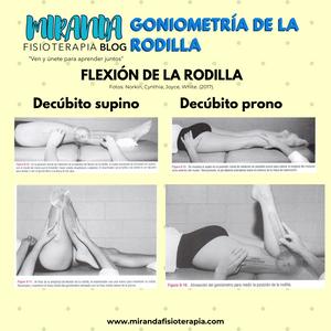Goniometría de la rodilla: Flexión de la rodilla