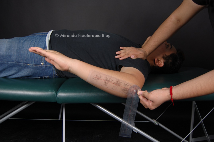 Goniometría: rotación interna del hombro