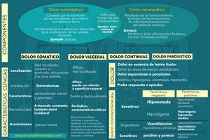 Características y componentes clínicas del dolor de tipos neuropático y nociceptivo