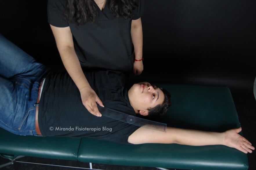 Goniometría: abducción del hombro