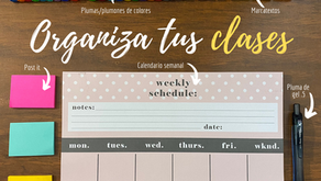 Mis consejos para aprende a organizar tus clases y tareas en un calendario semanal