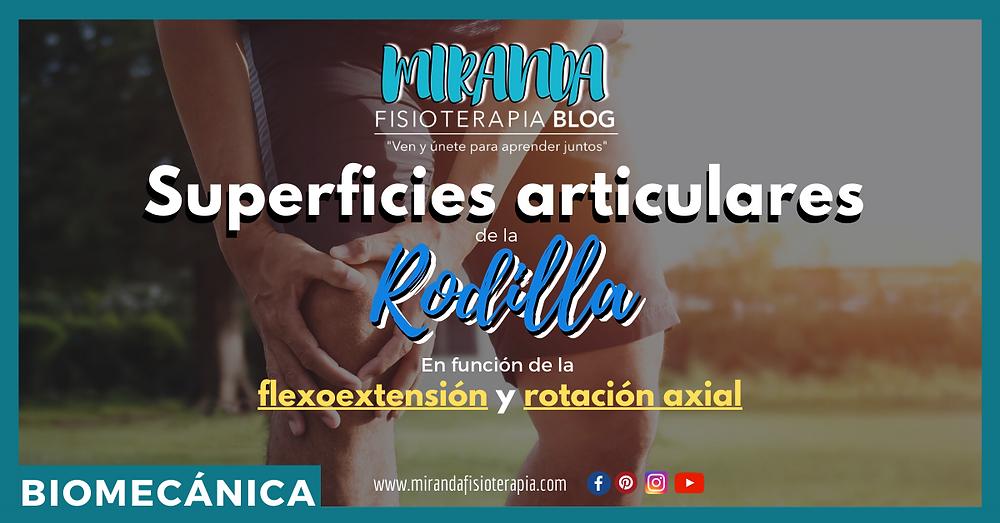 Superficies articulares de la rodilla en función de la flexoextensión y rotación axial