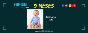 Desarrollo psicomotor:  9 meses sentado solo