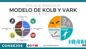 Estilos de aprendizajes según el modelo de Kolb y VARK + Test