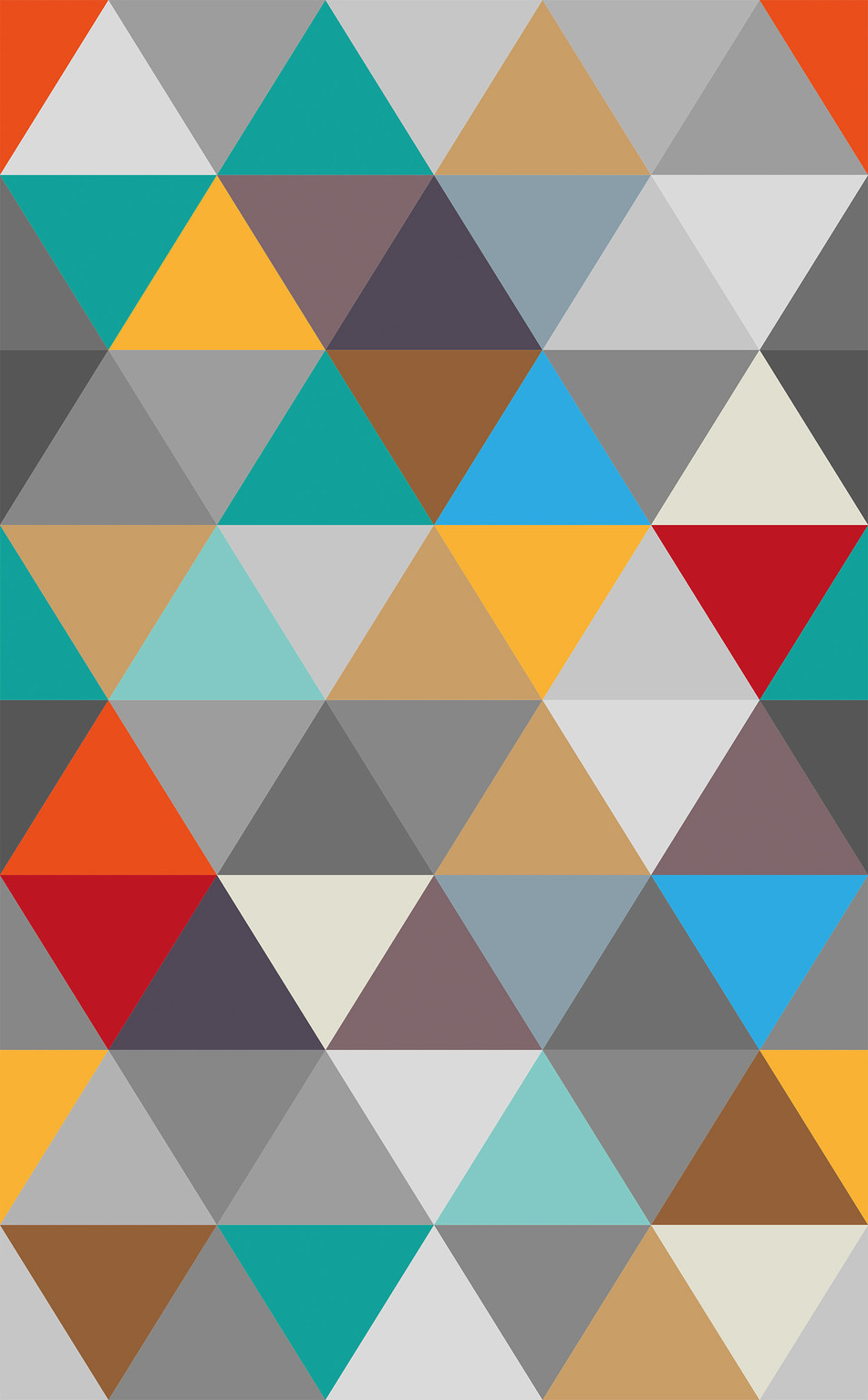 Triangle No. 11 Red Grey