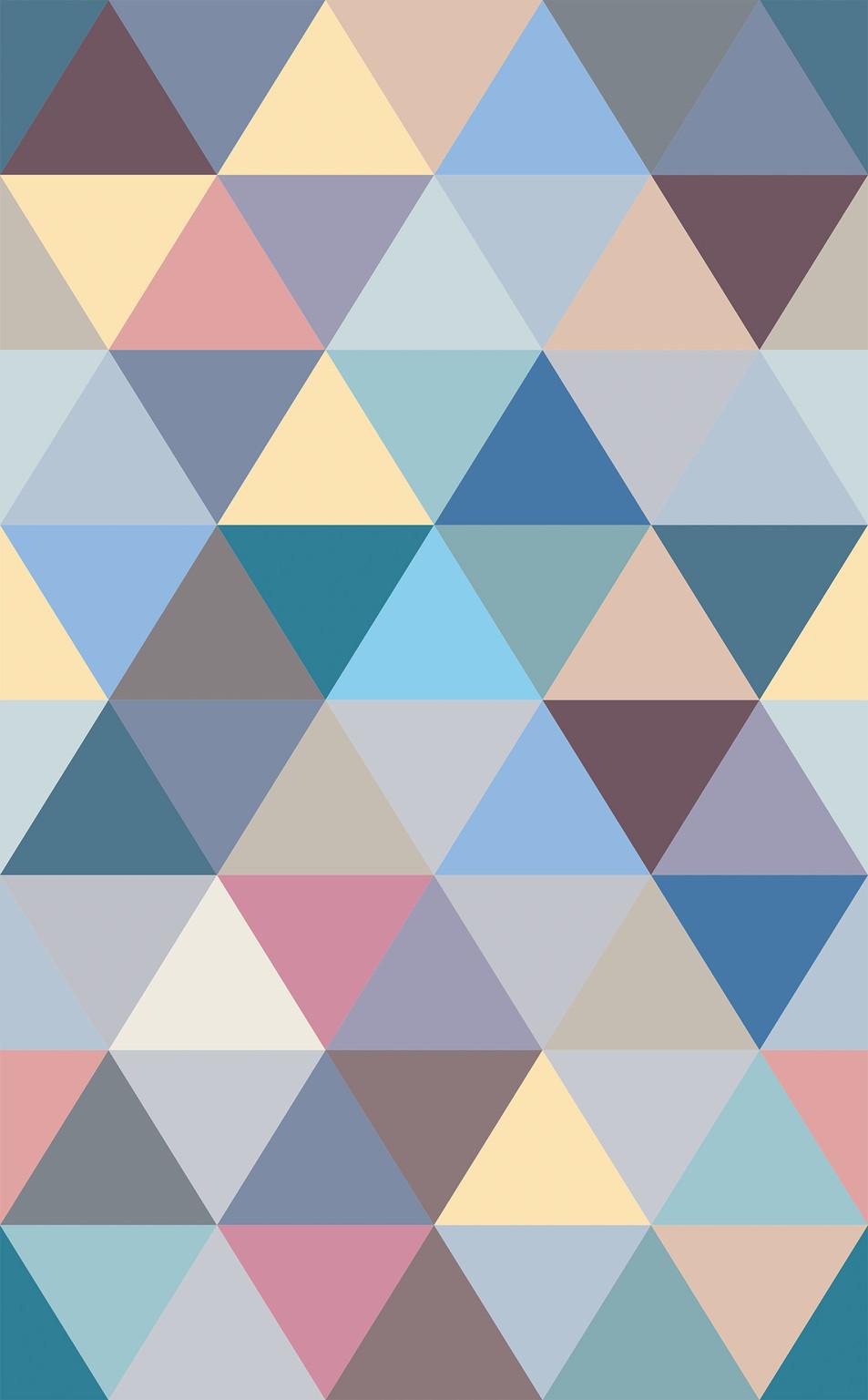 Triangle No. 10 Mauve Grey