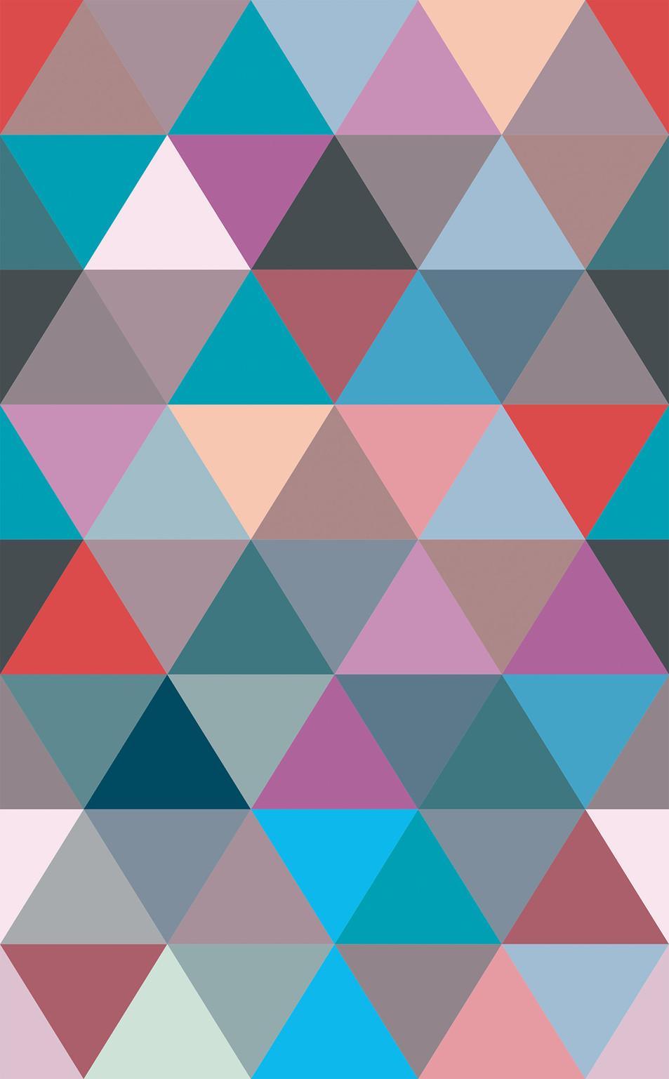 Triangle No. 04 Mauve Red
