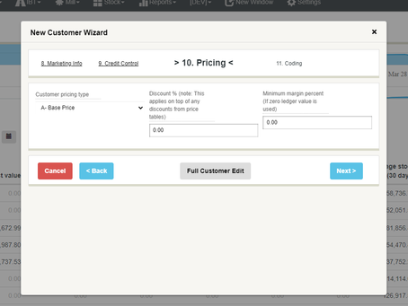 Pricing details on adding new Customer - #Build3485