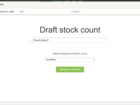 Stock Count email alert - #Build3485