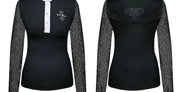 Polo concours Cecil black long sleeve