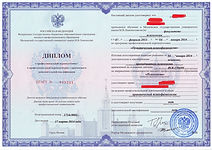 Диплом о профессиональной подготовки МГУ