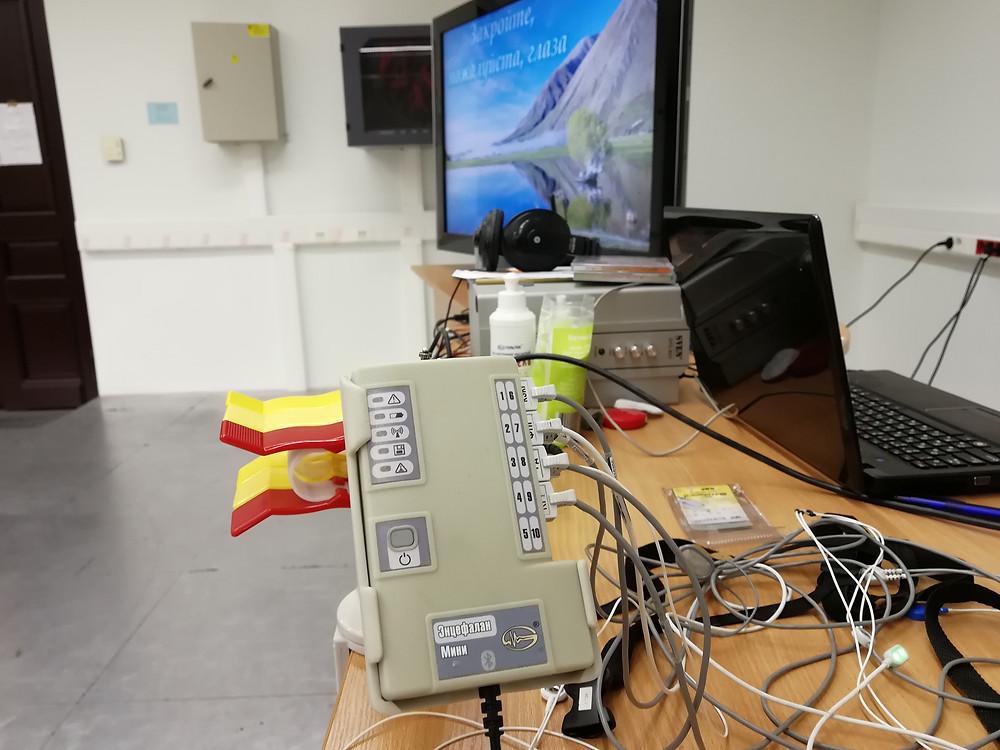 Прибор для тренингов с БОС биоуправления и нейрофитнеса
