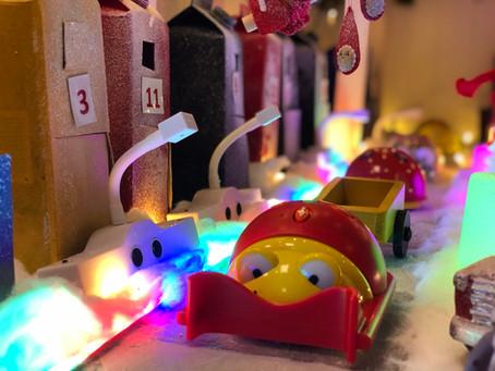 En engasjert barnegruppe - Julebyen 2020