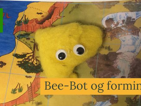 Randi sitt Bee-Bot prosjekt, blander forming og det digitale verktøy.