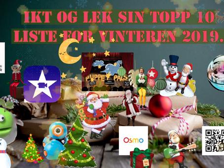 IKT og lek - Topp 10 liste for vinteren 2019