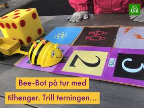 Bee-Bot har fått tilhenger
