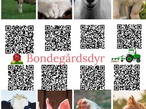 Lyst på qr-kode plakater om  bondegårdsdyr?