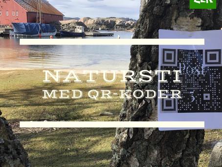 Natursti med QR-koder på Bragdøya