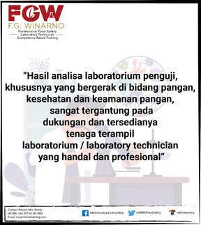 FGW Professional Food Safety Laboratory Technician Competency Based Training