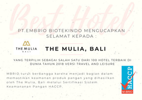 The Mulia Hotel Bali, salah satu Hotel terbaik di Dunia