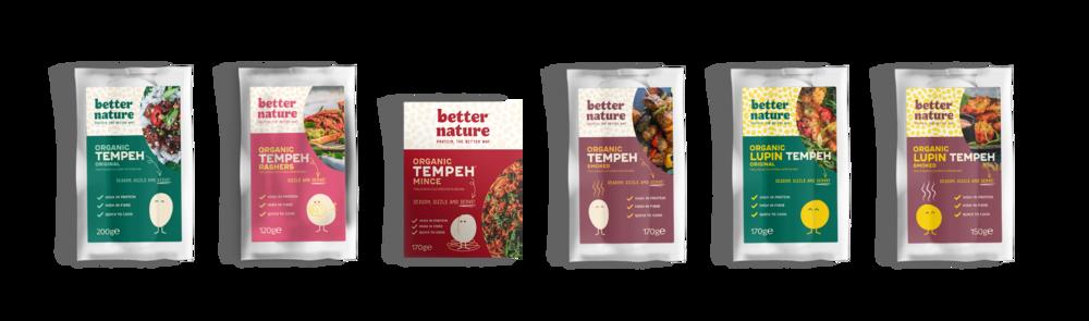 Produk-produk Better Nature: berbagai variasi menu dan seluruhnya berbasis tempe. Sumber: www.betternaturefoods.co