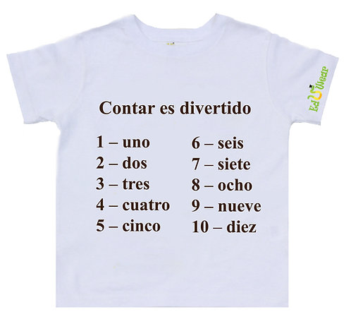 Contar Es Divertido (Counting Is Fun) Educational T-shirt