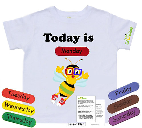 Days of The Week Interactive Educational T-shirt