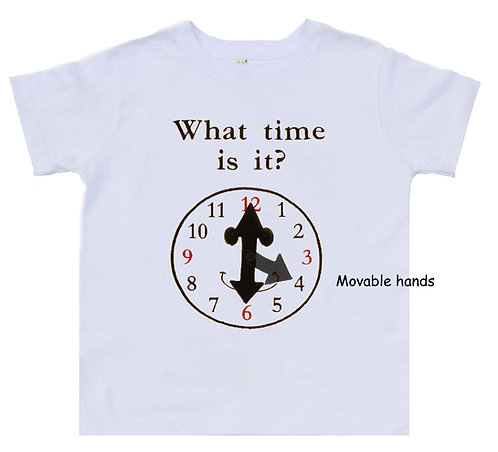 What time is it? Interactive Educational T-shirt