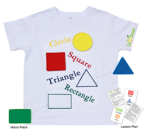 I Know My Shapes Interactive Educational T-shirt