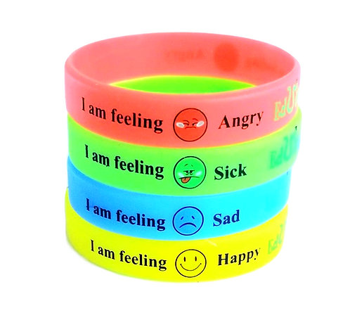 I Am Feeling Emotion Glow In The Dark Bracelets