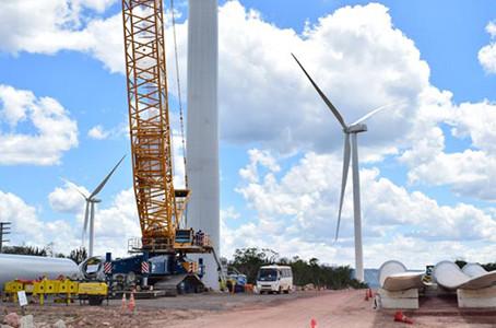 Avançam as obras para parque eólico de 361,2 MW na Bahia