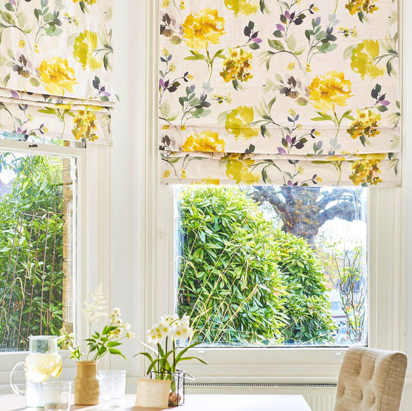 Colorful floral blinds