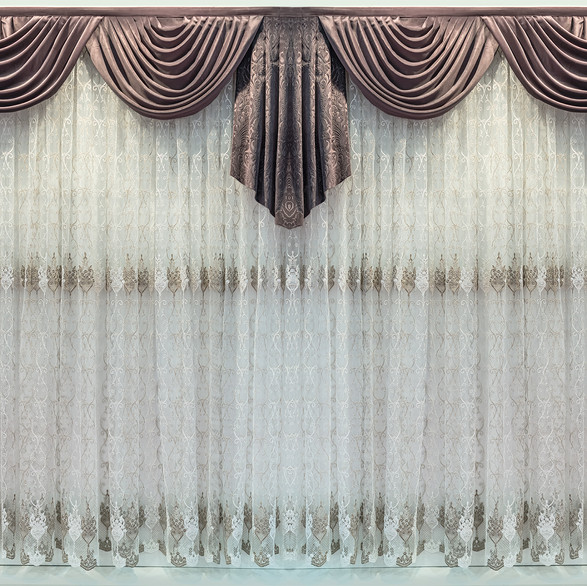 Classic style curtain draping