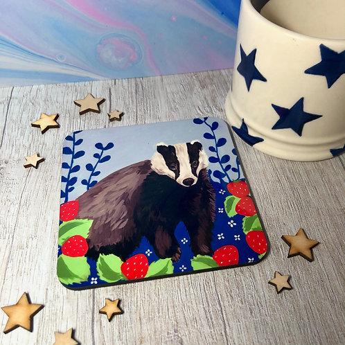 Strawberry Badger Coaster
