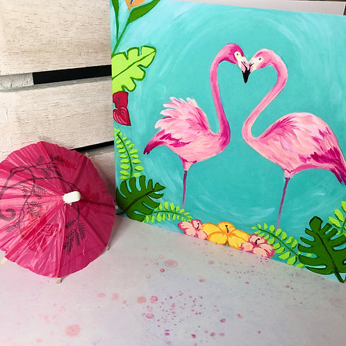 Hearty Flamingo Card